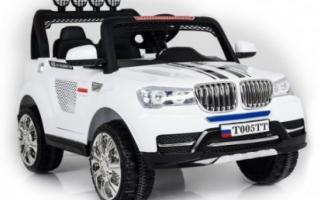 Полноприводный двухместный детский электромобиль Rivertoys BMW T005TT